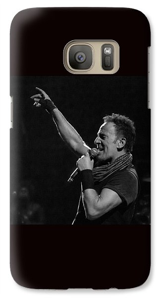 Galaxy Case featuring the photograph Bruce Springsteen In Cleveland by Jeff Ross