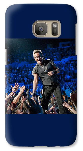 Galaxy Case featuring the photograph Bruce Springsteen La Sports Arena by Jeff Ross