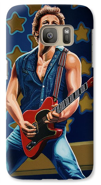 Bruce Springsteen The Boss Painting Galaxy Case by Paul Meijering