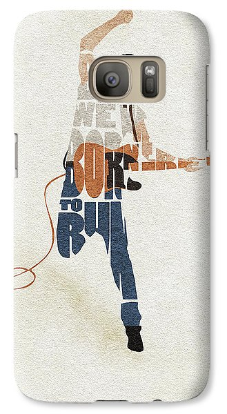 Bruce Springsteen Galaxy S7 Case - Bruce Springsteen Typography Art by Inspirowl Design