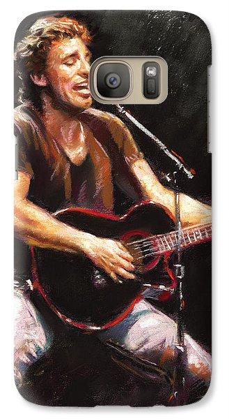 Bruce Springsteen Galaxy S7 Case - Bruce Springsteen  by Ylli Haruni
