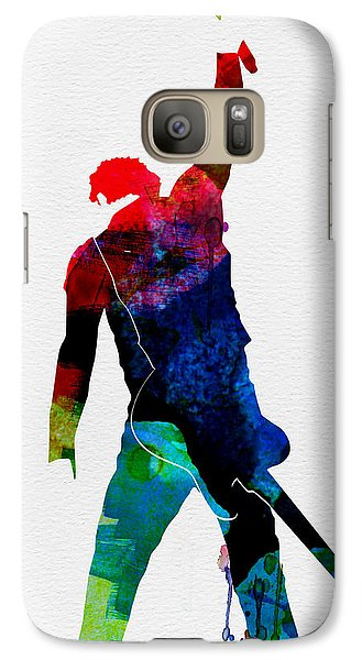 Bruce Watercolor Galaxy Case by Naxart Studio