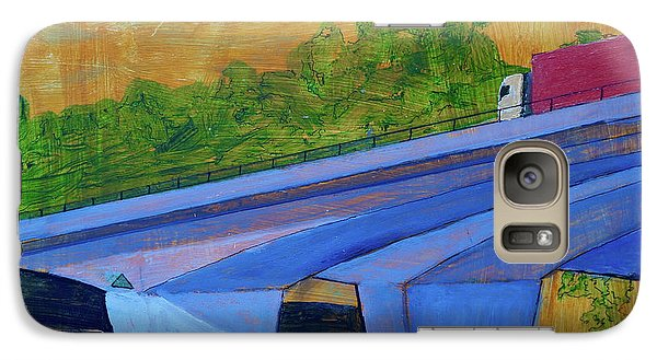Galaxy Case featuring the painting Brunswick River Bridge by Paul McKey