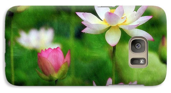 Galaxy Case featuring the photograph Brushed Lotus by Edward Kreis
