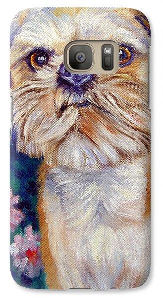 Griffon Galaxy S7 Case - Brussels Griffon by Lyn Cook