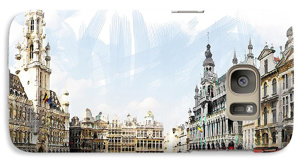 Galaxy Case featuring the photograph Brussels Grote Markt  by Tom Cameron