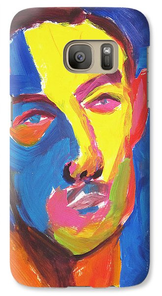 Galaxy Case featuring the painting Bryan Portrait by Shungaboy X