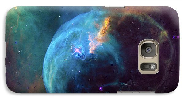 Galaxy Case featuring the photograph Bubble Nebula by Marco Oliveira
