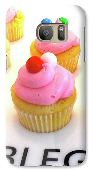 Galaxy Case featuring the photograph Bubblegum Cupcakes by Beth Saffer
