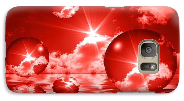 Galaxy Case featuring the photograph Bubbles In The Sun - Red by Shane Bechler