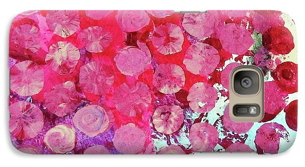 Galaxy Case featuring the mixed media Bubbles by Mary Ellen Frazee