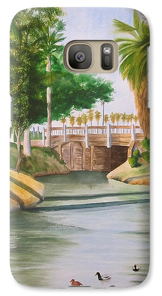 Galaxy Case featuring the painting Bubbling Springs Park by Teresa Beyer