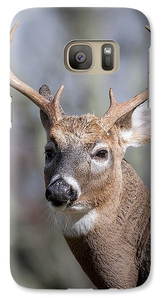 Galaxy Case featuring the photograph Buck Headshot by Tyson and Kathy Smith