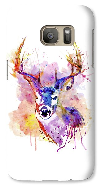 Galaxy Case featuring the mixed media Buck by Marian Voicu
