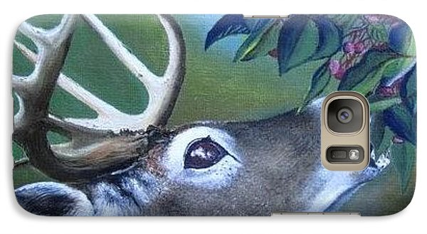 Galaxy Case featuring the painting Buck by Mary Ellen Frazee