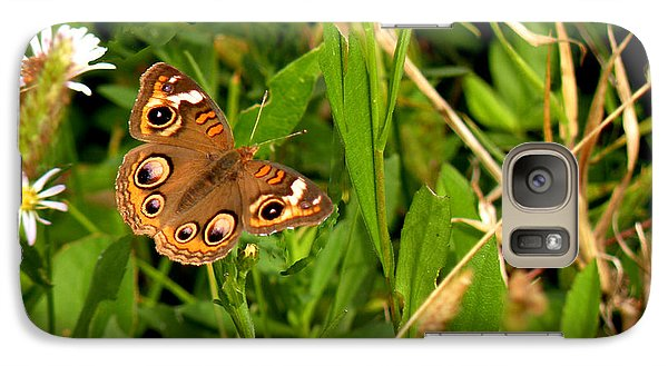 Galaxy Case featuring the photograph Buckeye Butterfly In Nature by Rosalie Scanlon