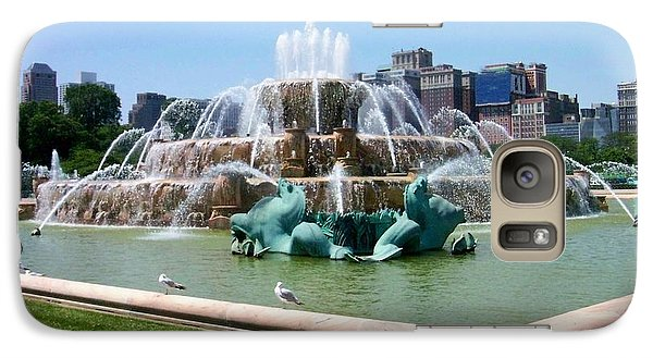 Buckingham Fountain Galaxy Case by Anita Burgermeister
