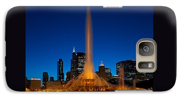 Buckingham Fountain Nightlight Chicago Galaxy S7 Case by Steve Gadomski