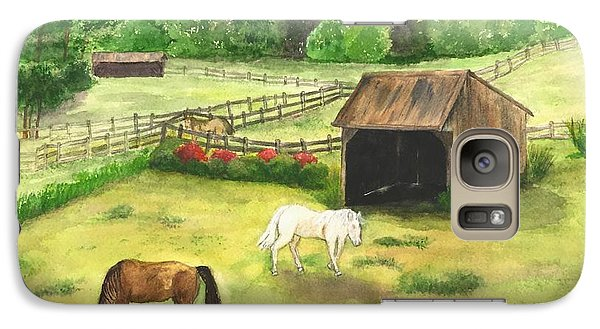 Galaxy Case featuring the painting Bucks County Horse Farm by Lucia Grilletto