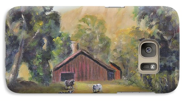 Galaxy Case featuring the painting Bucks County Pa Barn by Luczay