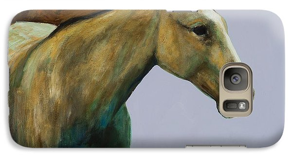 Galaxy Case featuring the painting Buckskin by Frances Marino