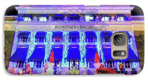Galaxy Case featuring the photograph Buckstaff Baths - Christmastime by Stephen Stookey