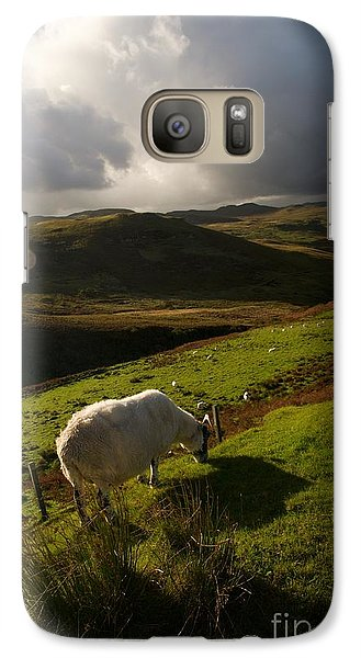 Galaxy Case featuring the painting Bucolic Scotland by Louise Fahy