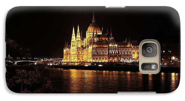 Galaxy Case featuring the digital art Budapest - Parliament by Pat Speirs