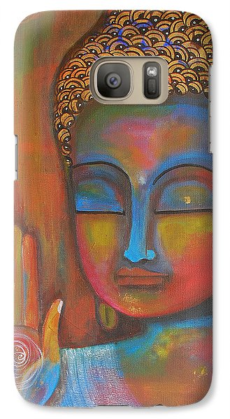 Galaxy Case featuring the painting Buddha Blessings by Prerna Poojara