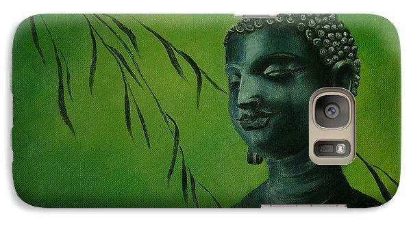 Galaxy Case featuring the painting Buddha by Lynn Hughes