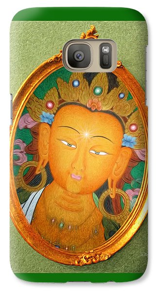 Galaxy Case featuring the painting Buddha Mirror by Robby Donaghey