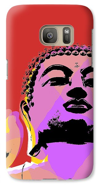 Galaxy Case featuring the digital art Buddha Pop Art  by Jean luc Comperat