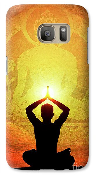 Galaxy Case featuring the photograph Buddha Prayer by Tim Gainey