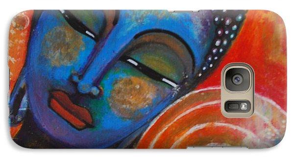 Galaxy Case featuring the painting Buddha by Prerna Poojara