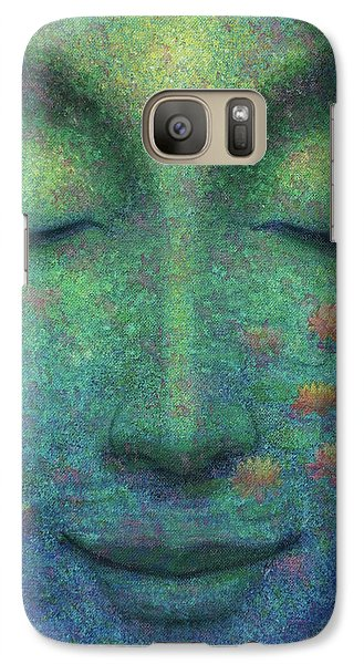 Galaxy Case featuring the painting Buddha Smile by Sue Halstenberg