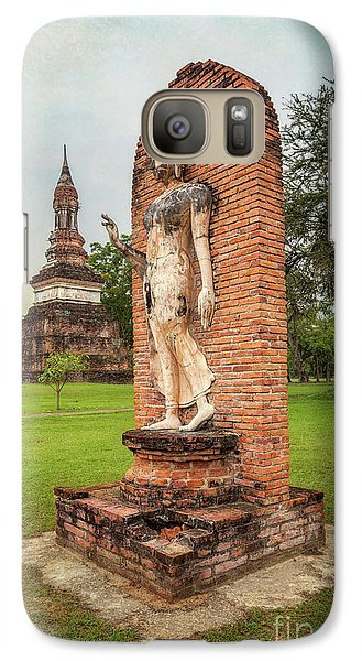 Galaxy Case featuring the photograph Buddha Statue Sukhothai by Adrian Evans