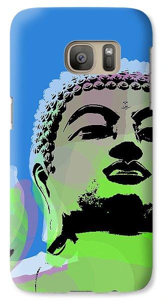 Galaxy Case featuring the digital art Buddha Warhol Style by Jean luc Comperat