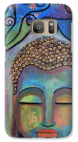 Galaxy Case featuring the painting Buddha With Tree Of Life by Prerna Poojara