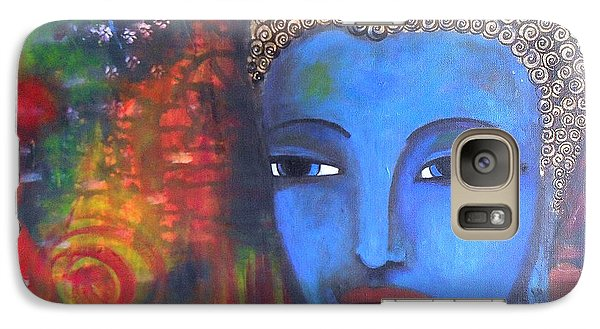 Galaxy Case featuring the painting Buddha Within A Circular Background by Prerna Poojara