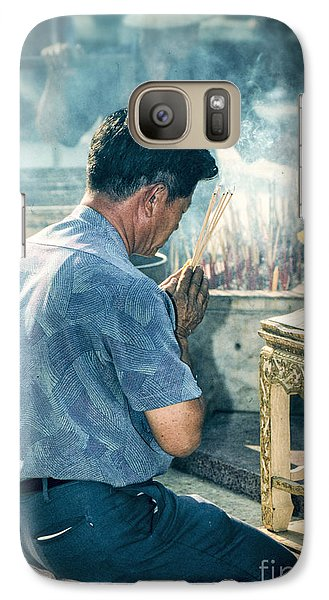 Galaxy Case featuring the photograph Buddhist Way Of Praying by Heiko Koehrer-Wagner