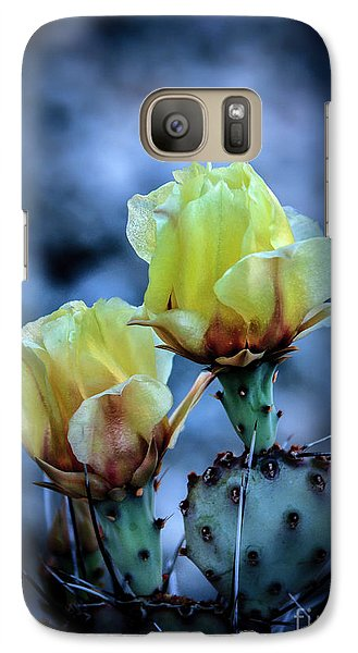 Galaxy Case featuring the photograph Budding Prickly Pear Cactus by Robert Bales