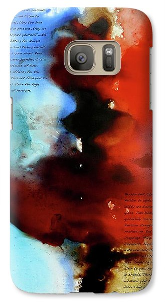 Galaxy Case featuring the painting Budding Romance by Jo Appleby