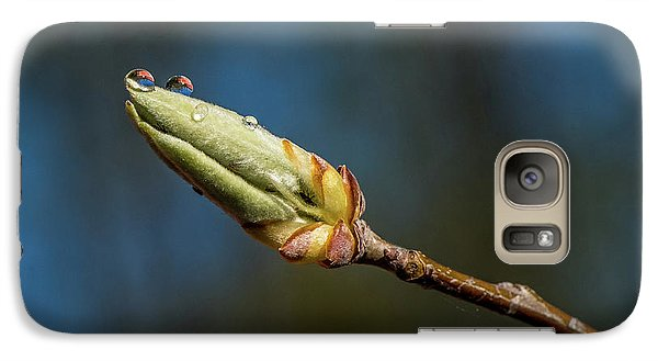 Galaxy Case featuring the photograph Buds With Water Drops by Paul Freidlund