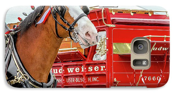 Galaxy Case featuring the photograph Budweiser Clydesdale In Full Dress by Bill Gallagher