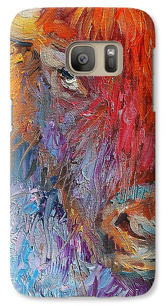 Buffalo Bison Wild Life Oil Painting Print Galaxy S7 Case by Svetlana Novikova