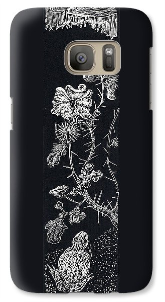 Galaxy Case featuring the drawing Buffalo Burr And Toad by Dawn Senior-Trask