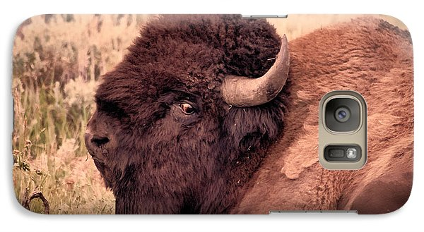 Galaxy Case featuring the photograph Buffalo Eye On You by Janice Rae Pariza