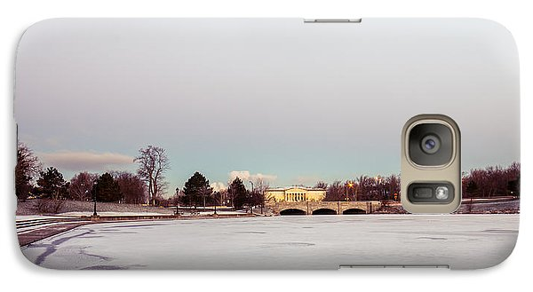Galaxy Case featuring the photograph Buffalo History Museum Across Hoyt Lake by Chris Bordeleau