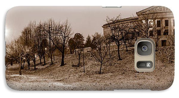 Galaxy Case featuring the photograph Buffalo History Museum Winter Twilight  by Chris Bordeleau