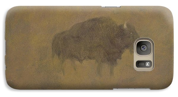 Buffalo Galaxy S7 Case - Buffalo In A Sandstorm by Albert Bierstadt